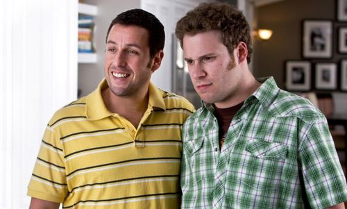 FUNNY PEOPLE Still Adam Sandler and Seth Rogen