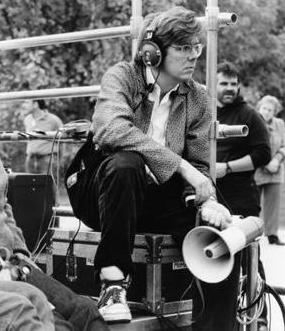 JOHN HUGHES On set