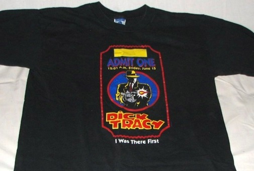 DICK TRACY T-shirt Ticket