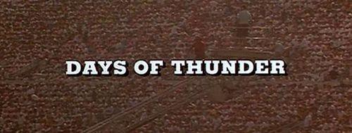 DAYS OF THUNDER Title
