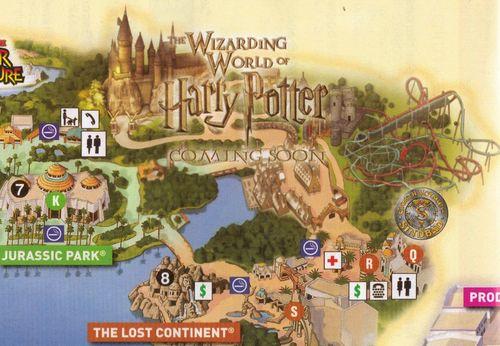 Beautiful MAP. Hogwarts. Hogsmeade