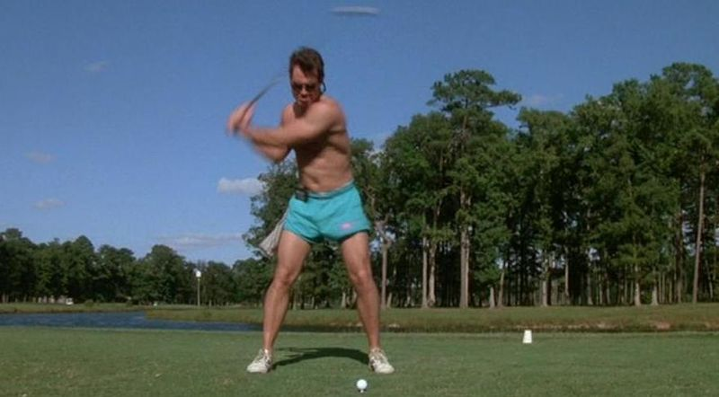NAVY SEALS Shirtless Golf