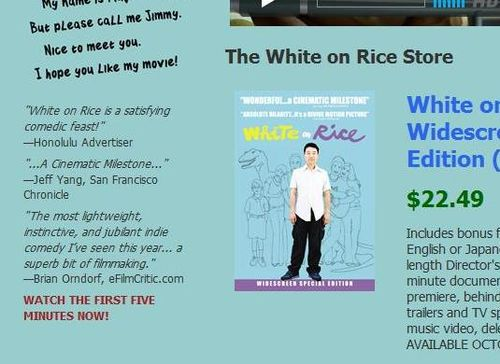 WHITE ON RICE Website