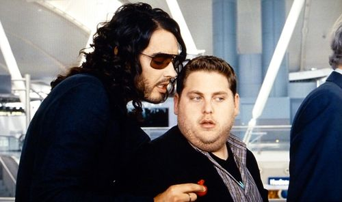 GET HIM TO THE GREEK Russell Brand Jonah Hill