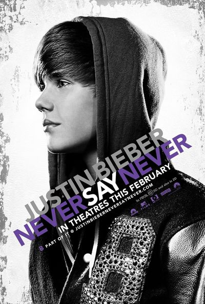 JUSTIN BIEBER NEVER SAY NEVER movie poster
