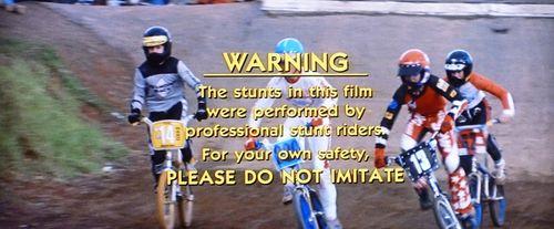 BMX Bandits End Credit Warning