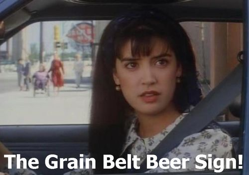 DROP DEAD FRED Grain Belt Beer Sign 1