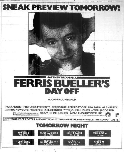 Minnesota Movie Ad June 1986 5