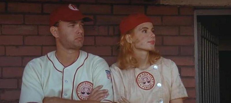 A LEAGUE OF THEIR OWN Geena Davis Tom Hanks