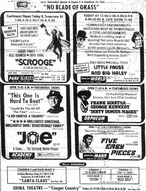 Minnesota Movie Ad 1970 3