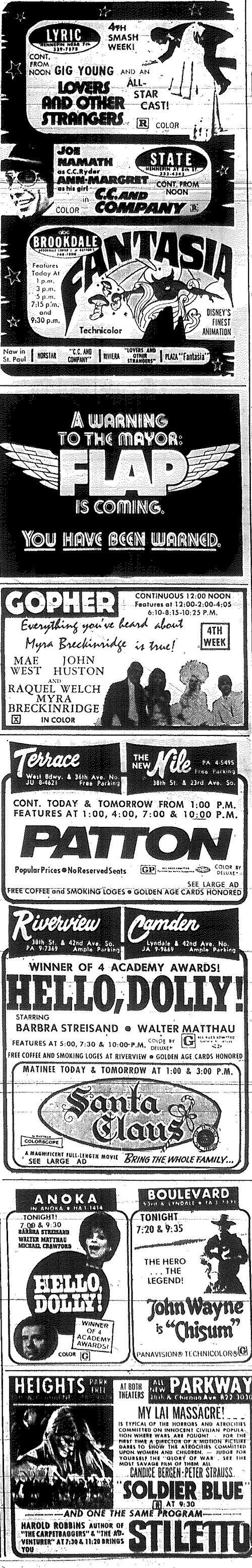 Minnesota Movie Ad 1970 4