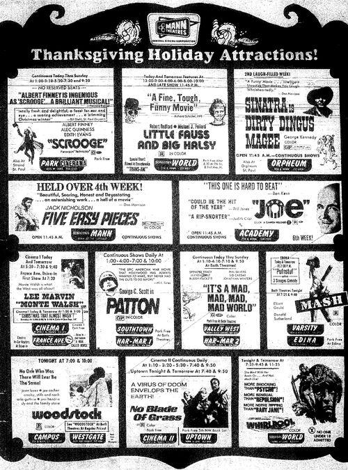 Minnesota Movie Ad 1970 9