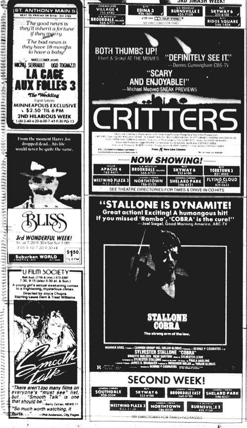 Minnesota Movie Ad June 1986 2
