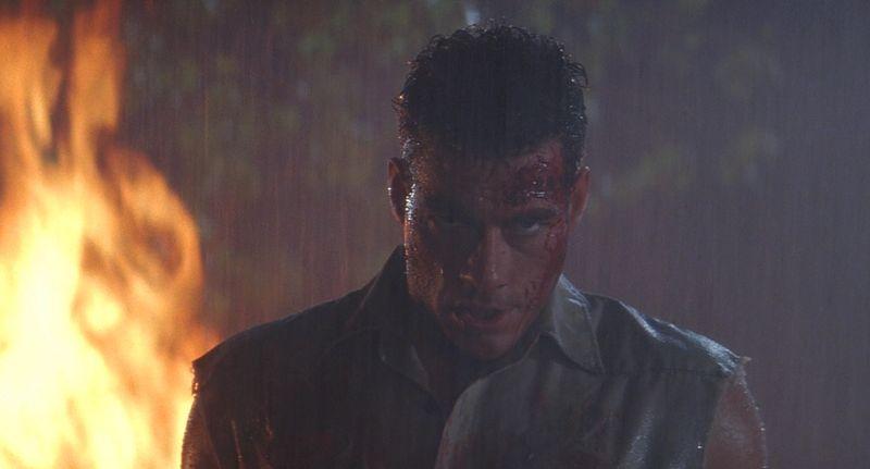 UNIVERSAL SOLDIER Jean-Claude Van Damme fire