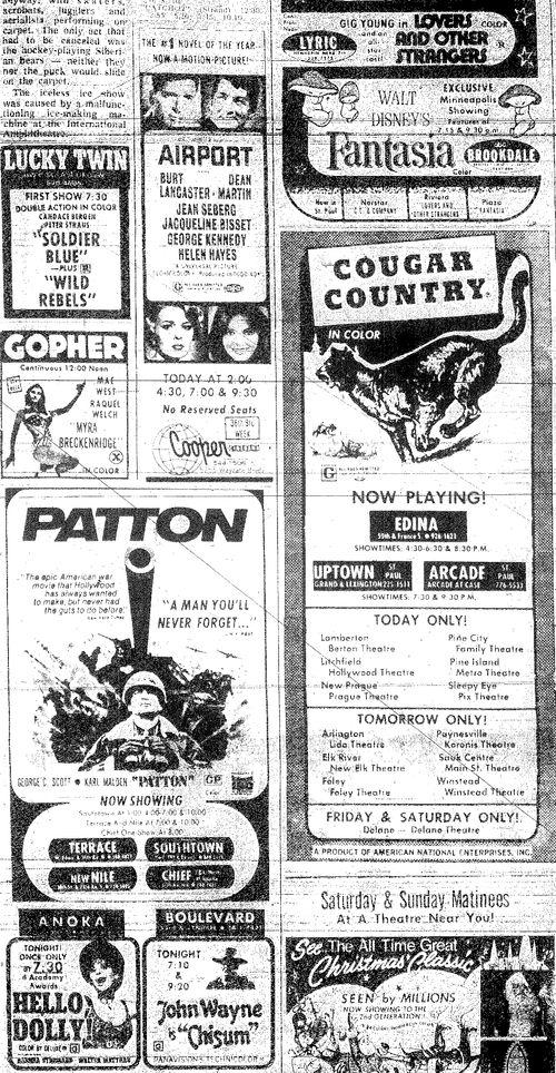 Minnesota Movie Ad 1970 2