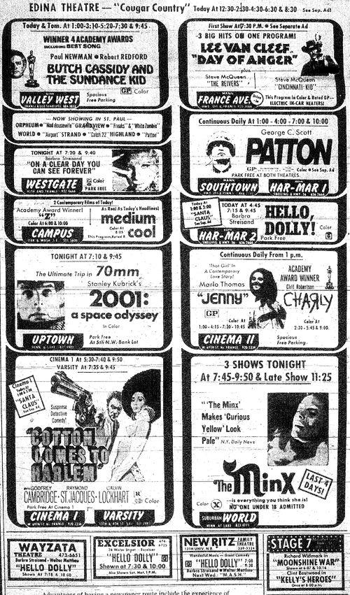 Minnesota Movie Ad 1970 6