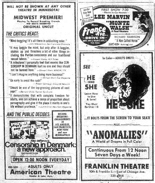 Minnesota Movie Ad 1970 7