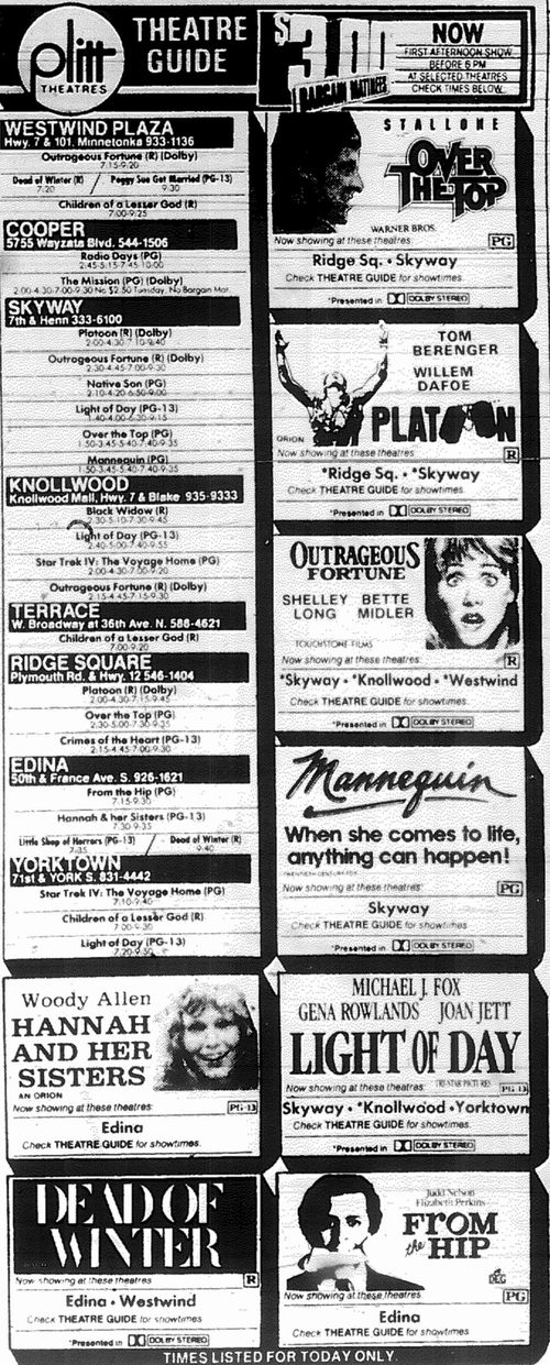 Minnesota Movie Ads 1987 6