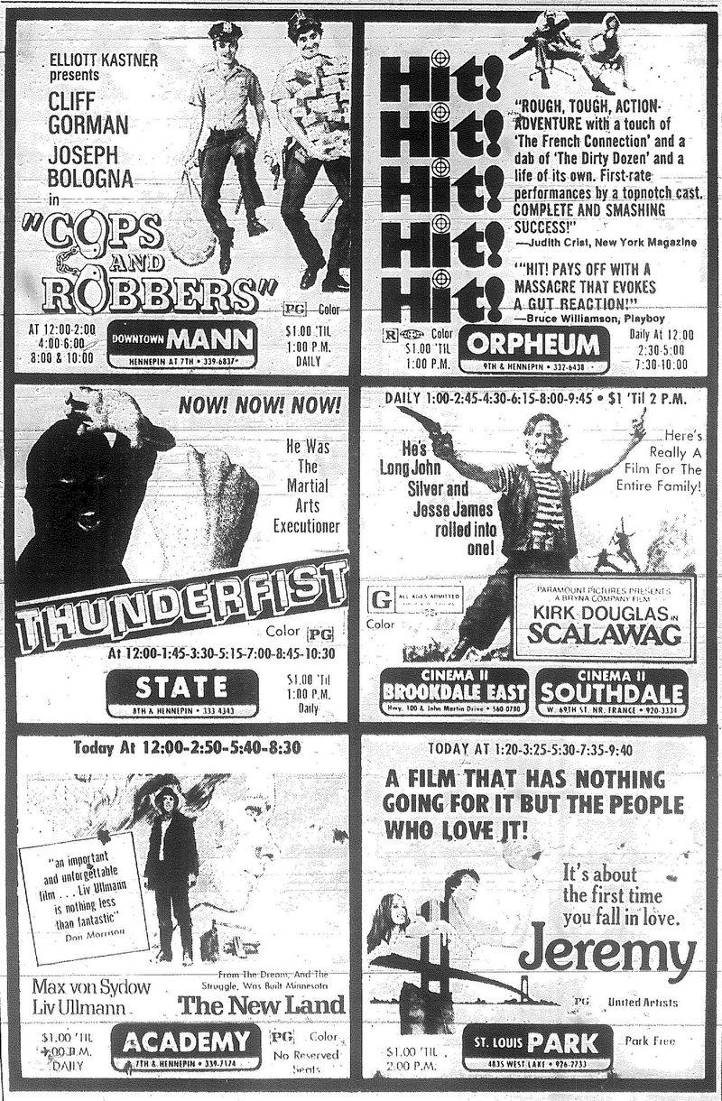 Minnesota Movie Ads 1973 2