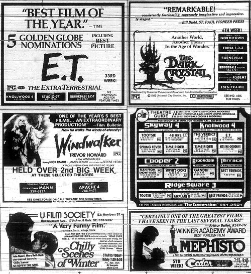Minnesota Movie Ads 1983 13
