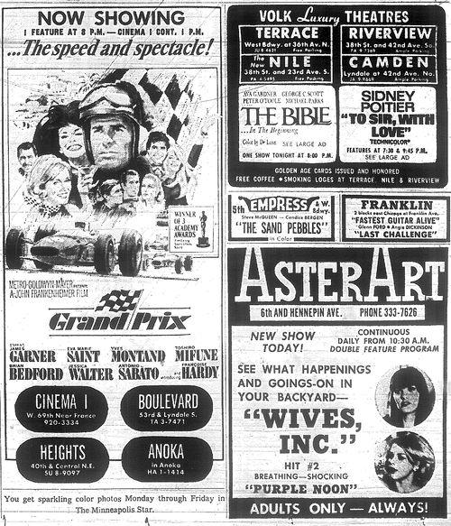 Minnesota Movie Ad 1967 2