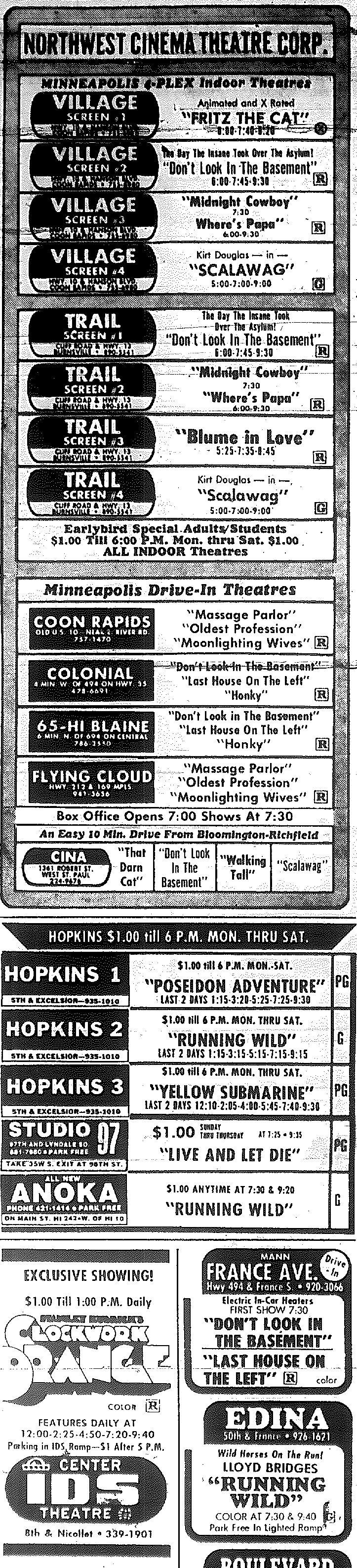 Minnesota Movie Ads 1973 8