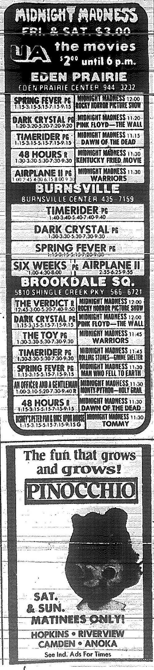 Minnesota Movie Ads 1983 14