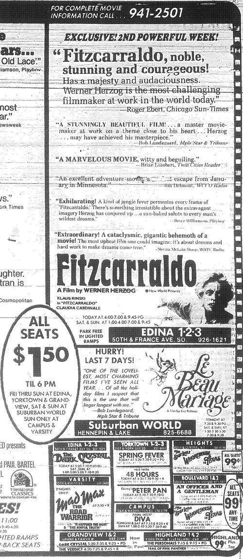Minnesota Movie Ads 1983 16