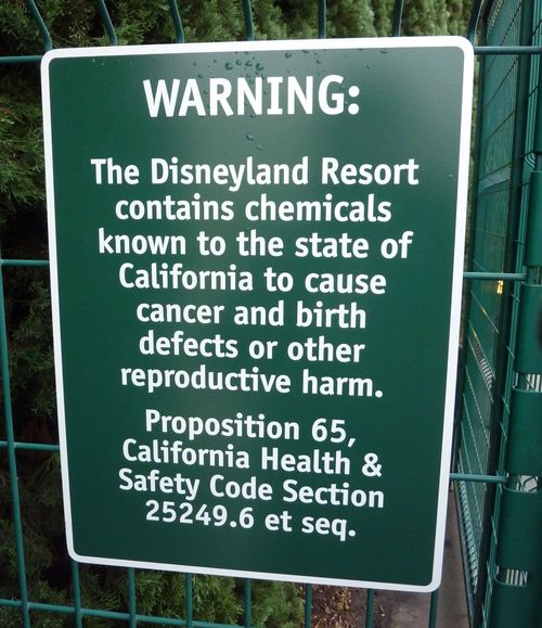 Disneyland Chemicals