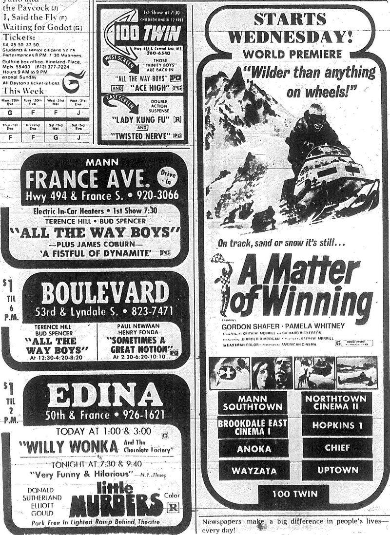 Minnesota Movie Ads 1973 10