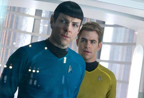 STAR TREK INTO DARKNESS Chris Pine Zachary Quinto