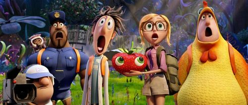 CLOUDY WITH A CHANCE OF MEATBALLS 2 Bill hader Anna Faris