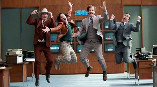 ANCHORMAN 2 Will Ferrell Steve Carrell Paul Rudd