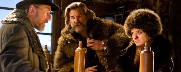 Tim Roth, Kurt Russel og Jennifer Jason Leigh i The Hateful Eight2